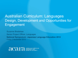 The Australian Curriculum - AFMLTA National Conference …