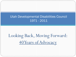 Utah Developmental Disabilities Council 1971