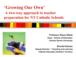 Growing Our Own – A two-way approach to teacher