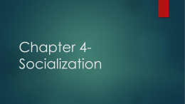 Chapter 4-Socialization
