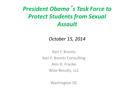 President Obama's Taskforce to Protect Students from