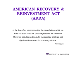 AMERICAN RECOVERY & REINVESTMENT ACT (ARRA)