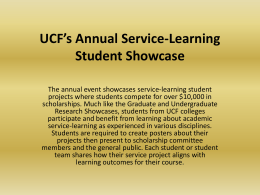 UCF's 6th Annual Service-Learning Student Showcase …