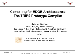 A Spatial Path Scheduling Algorithm for EDGE Architectures