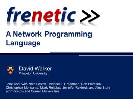 A Network Programming Language
