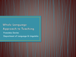 Whole Language Approach to Teaching