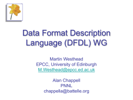 Data Format Description Language (DFDL)