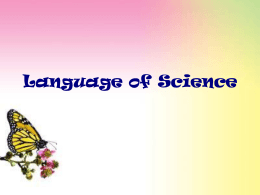 Language of Science