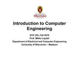 Assembly Language - University of Wisconsin–Madison