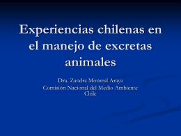Experiencias chilenas en el manejo de excretas animales