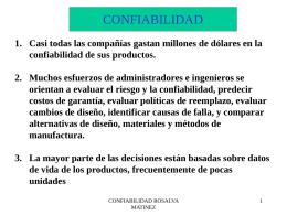 CONFIABILIDAD
