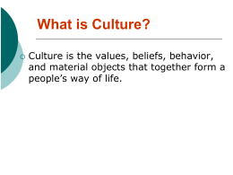 Cultural Elements ppt - San Jose Unified School District