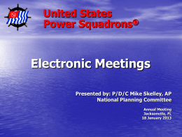 Electronic Meetings Overview
