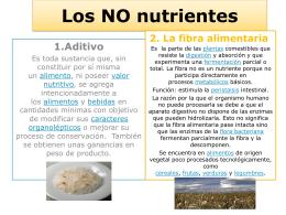 Los NO nutrientes
