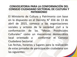 Diapositiva 1 - Ministerio de Cultura y Patrimonio | Ecuador
