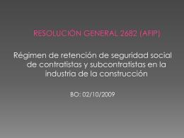 RG 2682 (AFIP) - Bienvenidos a MR Consultores