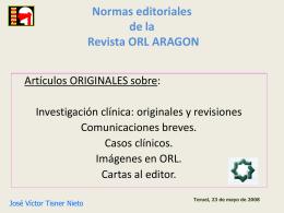 Normas editoriales ORL ARAGON