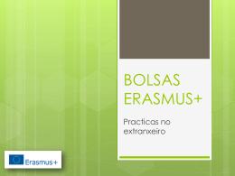 BOLSAS ERASMUS+