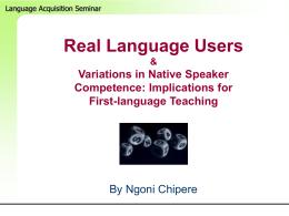 Real Language Users - Cornell University