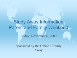 PowerPoint Presentation - Study Away Oberlin College