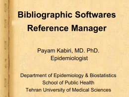 Bibliographic Softwares