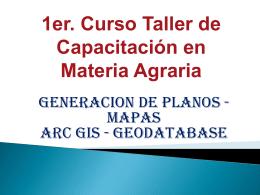 GENERACION DE PLANOS EN ARC GIS 9.3