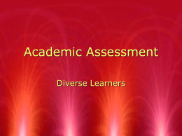 Academic Assessment