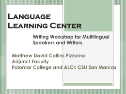 Language Learning Center - California State University San