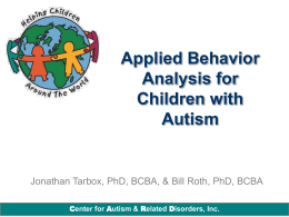 Applied Behavior Analysis for Children with Autism