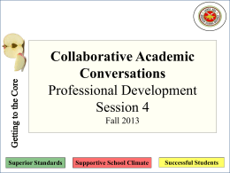 Collaborative Academic Conversations Professional