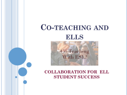 Co-teaching and ells