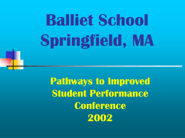 Balliet School Improvement Initiatives