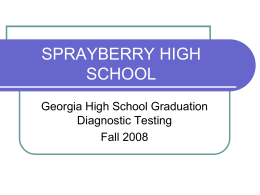 Georgia High School Graduation Diagnostic Testing