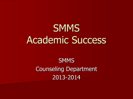 Academic Success - San Marcos Unified School District