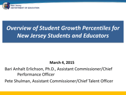 Student Growth Percentiles Presentation