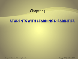 Learning Disabilities and Academic Performance