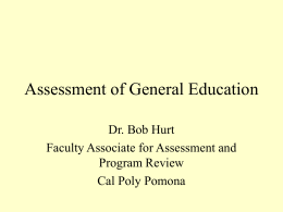Assessment of General Education