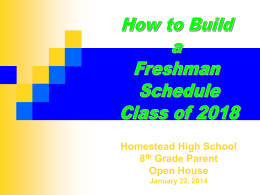 Homestead High School Ninth Grade Academy Program