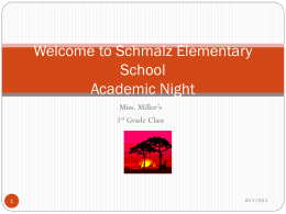 Welcome to Royal Elementary School Academic Night