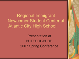 Regional Immigrant Newcomer Student Center at Atlantic
