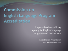 Commission on English Language Program Accreditation