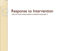 Integrating Behavioral and Academic Interventions