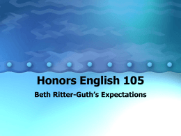 Honors English 105 - Drexel University