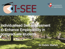 Individualised Self-assessment to Enhance Employability in