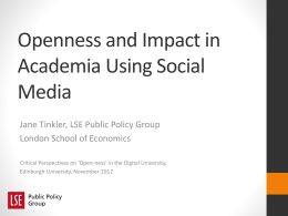 Using social media to disseminate academic work