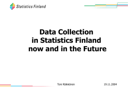Internet-Based Collection of Statistical Data