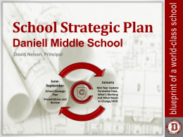 School Strategic Plan Presentation