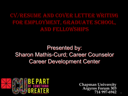 Headings - Chapman University