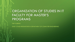 Organization of studies in IT faculty for master's programs