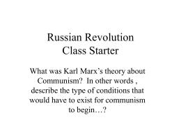 Russian Revolution(s)